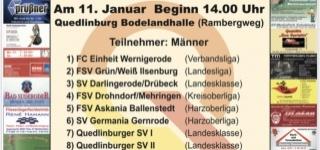 16. Stadtwerke Cup des Quedlinburger SV am 11.01.2020 ab 14 Uhr in der Bodelandhalle