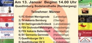 +++ Stadtwerke-Cup steigt am 13.01.2018 ab 14 Uhr +++