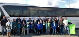 E-Jugend erlebt Fußballbundesliga VfL Wolfsburg gegen RB Leipzig